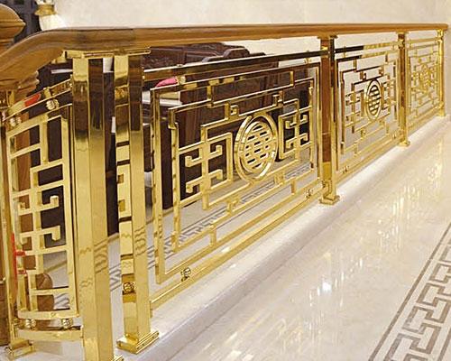 安义铝艺楼梯扶手设计