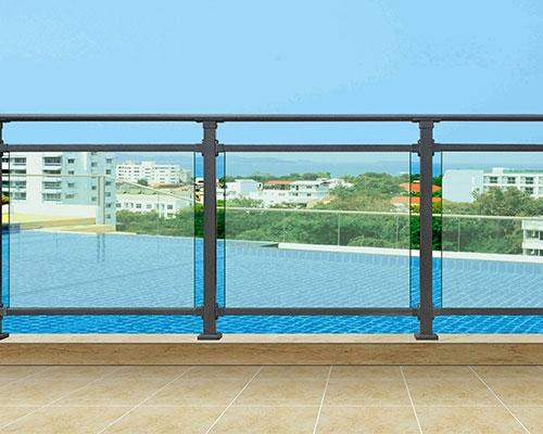 安义锌钢阳台护栏设计