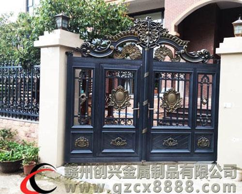 赣州铝艺庭院大门、铝艺护栏图片